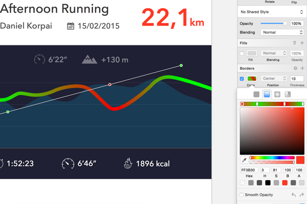 Создание дизайна фитнес-приложения для iOS в Sketch