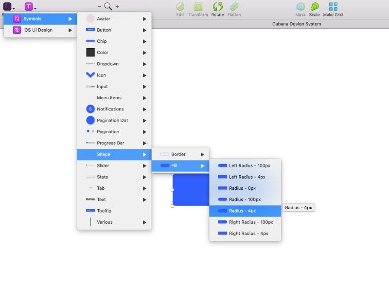 Как создать дизайн-систему в Sketch: объединение символов